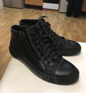 Мужские ботинки. Осень кожа/байка