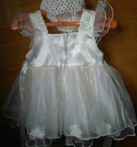 Платье на девочку + цифра