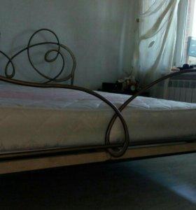 Кровать металлическая кованая