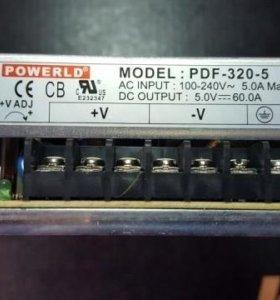 Блоки питания 5V 60A PDF-320-5