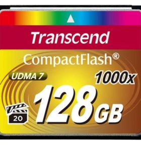 Transcend Compact Flash 1000X 128GB (новая)