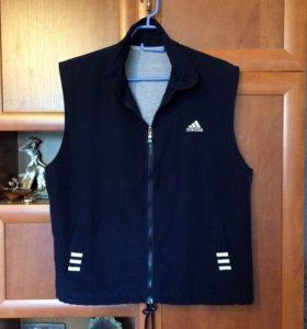 Синяя жилетка Adidas, 46-48 размер