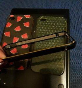 Чехлы и бампер на айфон 4s