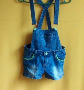 Новый джинсовый комбенизон для девочки 11-13 лет