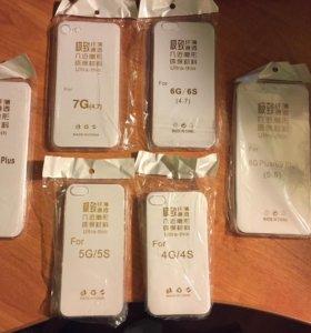 iPhone прозрачные силиконовые чехлы