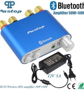 Усилитель 2x50W Bluetooth