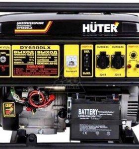 Генератор Huter 6500LX электростартер