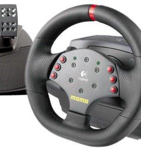Руль и педали Logitech MOMO Racing