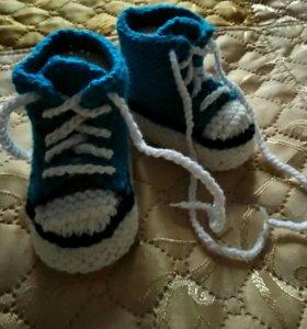 Вязанные ботиночки.