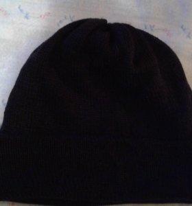 шапка унисекс, двойная с отворотом
