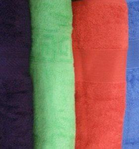 Полотенца махровые 100×150 см