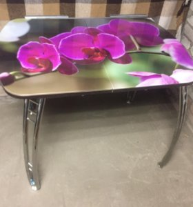 Стол с фотопечатью стекло