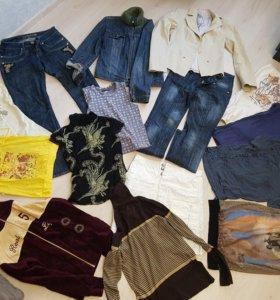 Пакет одежды размер s/m 42/44 джинсы,пиджаки...