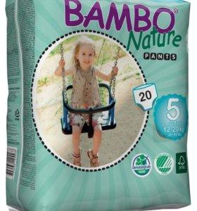 Подгузники-трусики детские Bambo-Nature №5 №6