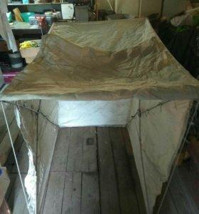 Самодельная зимняя палатка от ветра