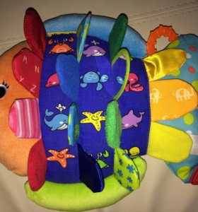 Развивающая мягкая игрушка Рыбка 0+