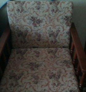 Комплект диван и кресла б/у