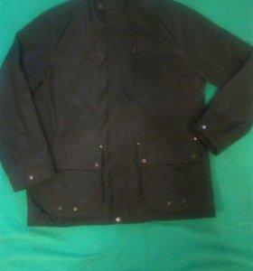 Черная мужская куртка-плащ бренда Brax