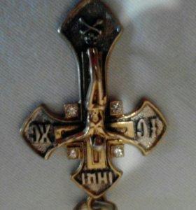 Крест серебряный новый