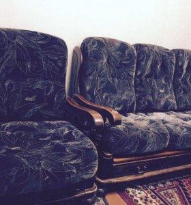 Продам диван с креслом!!!!