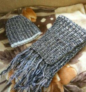 Шапка и шарф. Женские.