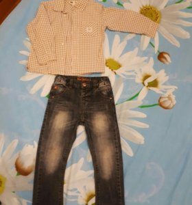 Джинсы+ рубашка