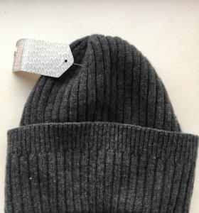 Шерстяная шапка на зиму