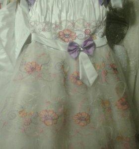 Детское нарядное платье новое
