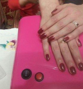 Наращивание ногтей, маникюр с покрытием Shillac