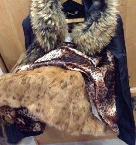 Теплейшая зимняя куртка с натуральным мехом