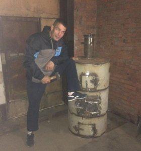 Печка гаражная