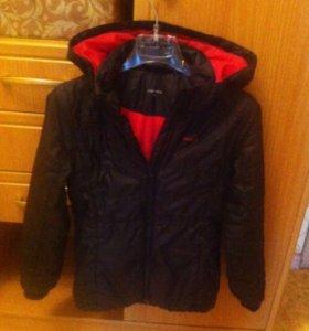 Куртка на девочку размер 128 Demix +сапоги 33 р