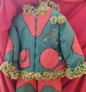 Комбинезон курточка+штанишки 3-6 лет