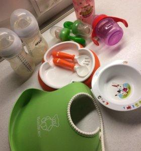 Посуда детская и прорезыватели  babybjorn Avent