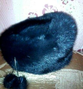 Женская шапка норковая