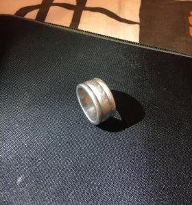 Кольцо мужское из серебра 925 пробы с брил. 20 раз
