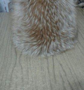Шапка вязаная мех-лиса