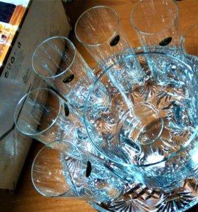 Стаканы из Богемского стекла для коктейля