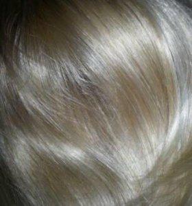Накладные волосы на заколке краб