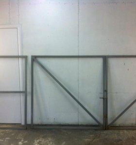 Рамки ворот 3*1,5 м, калитка 1*1,5м+шарниры 6 шт