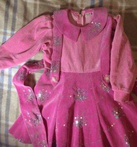 Платье новое вельветовое