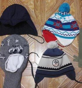 Шапки 4 штуки и шарф