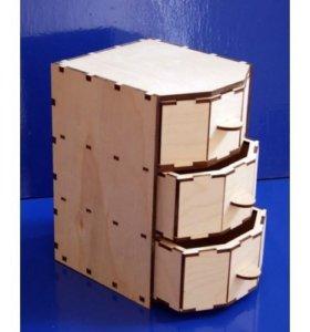 Комод 3 ящика (шкатулка)