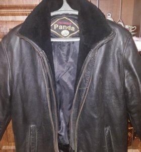 Натуральная теплая зимняя куртка