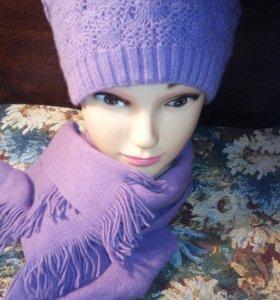 Шапка+шарф новые.