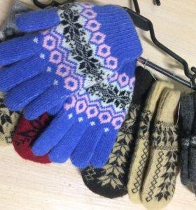 Варежки, перчатки.(все новое)