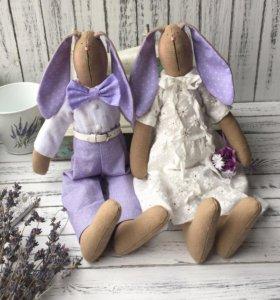 Зайцы Тильда свадебные
