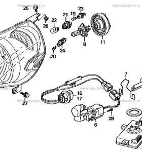 фара левая ( P1680) Honda Fit GD1