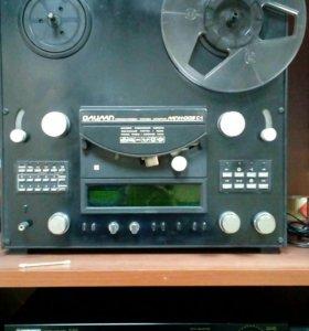 Магнитофон олимп 005 с-1 с пультом ду , усилитель
