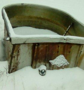 Ванна из нержавейки с усилителями из металла.